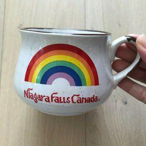 Vintage Ceramic Niagara Falls Rainbow Coffee Mug